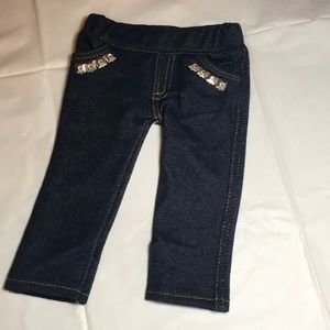 Blue jeans jeggings for American doll